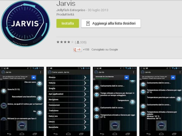 Assistente personale Android Jarvis