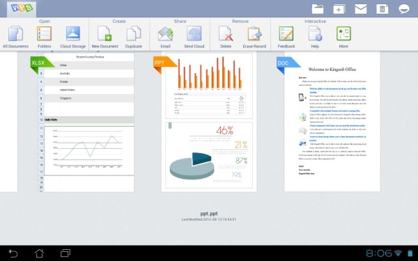 Come utilizzare Excel su Android con Kingsoft Office
