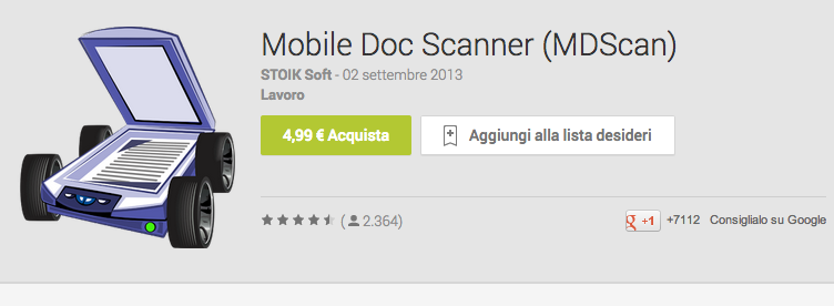 Scansionare un documento su Android con Mobile Doc Scanner