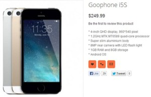 cloni Android GooPhone i5S