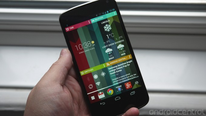 Google Now Launcher per Android: schermate a schede
