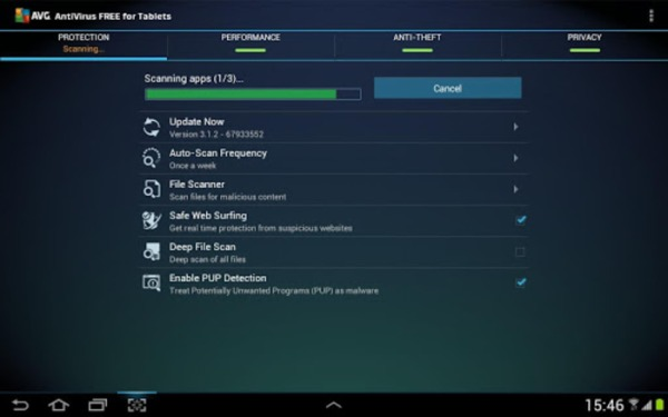 AVG antivirus free per Android: il top in materia di sicurezza